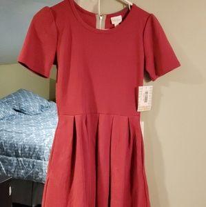 Solid pink Amelia Dress